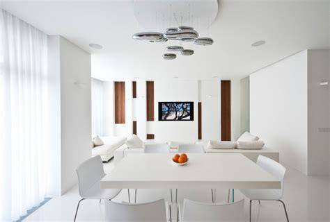 white dining room apartment awash with walnut white