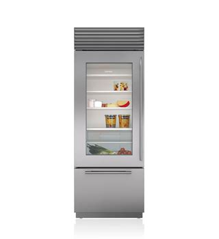 Glass Door Refrigerator And Freezer For Home Built In Refrigerators Stainless Steel Custom Panels Sub Zero