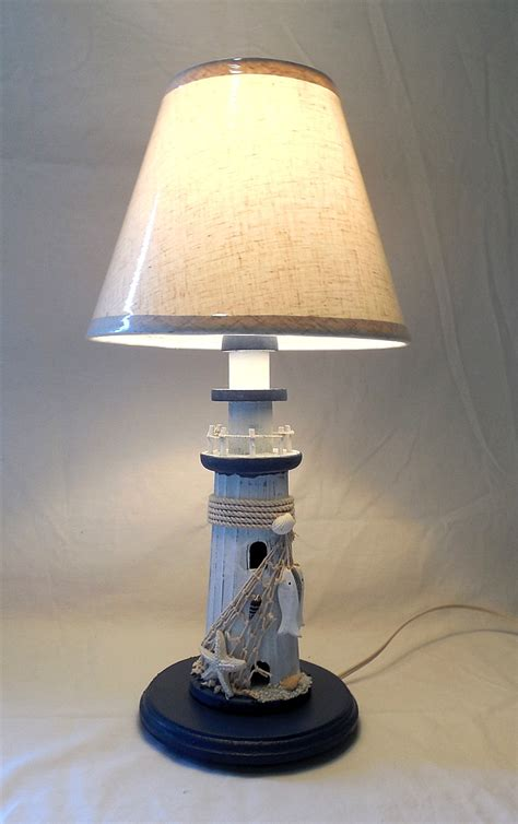 Lighthouse L Shade by Robin S Dockside Shop Nautical Lighthouse Table L