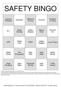 safety bingo cards to print and customize