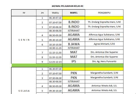 background jadwal pelajaran jadwal pelajaran kelas 8e 8e 2014 domsav