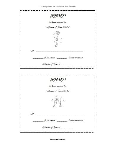 rsvp card microsoft template free printable rsvp cards www researchpaperspot