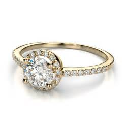 engagement rings yellow gold halo engagement rings brilliant and beautiful ipunya