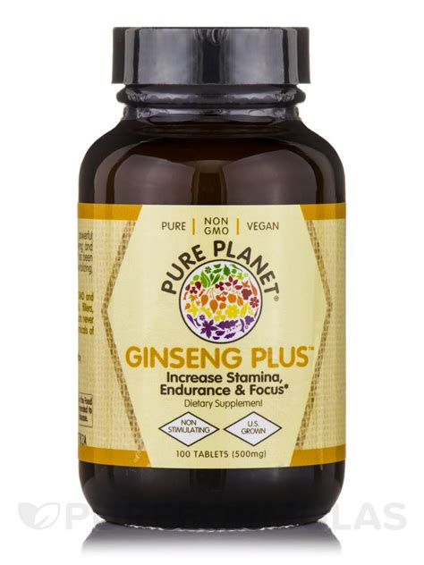 Plu Ginseng ginseng plus 500 mg 100 tablets