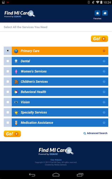 care search find mi care android apps on play