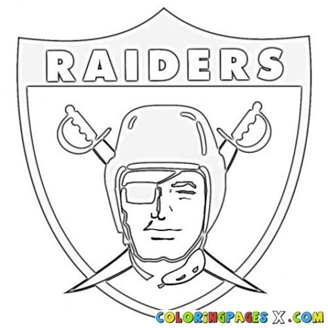 Oakland Raiders Coloring Pages painted by