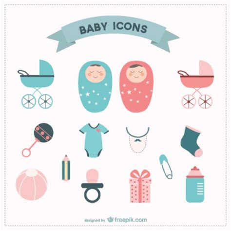 Baby Layout Vector | baby icons set vector free download