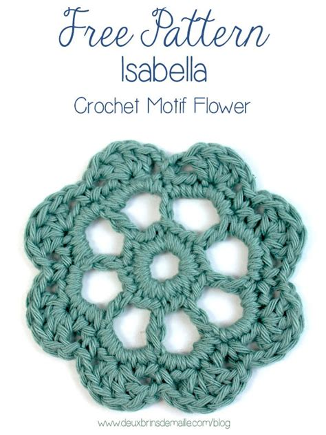 difference between pattern and motif how to crochet this beautiful flower motif for free