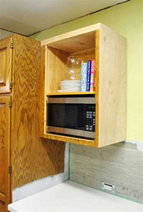 Build A Microwave Shelf discover and save creative ideas