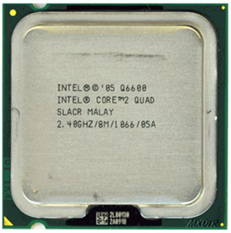 Intel Q6600 Sockel by Intel 2 Q6600 Slacr Processor Specs