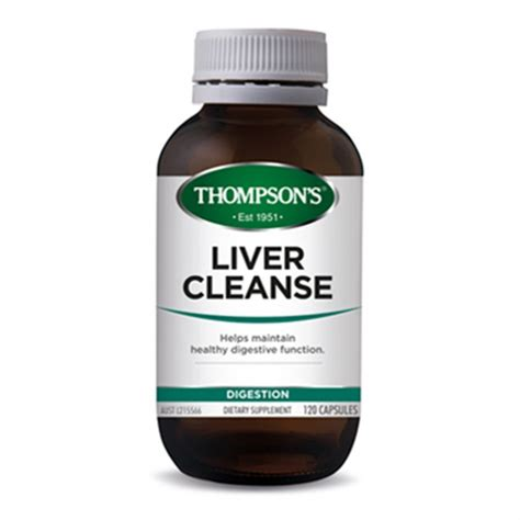 Liver Detox Pills Benefits by Buy Liver Cleanse 120 Capsules By Thompson S