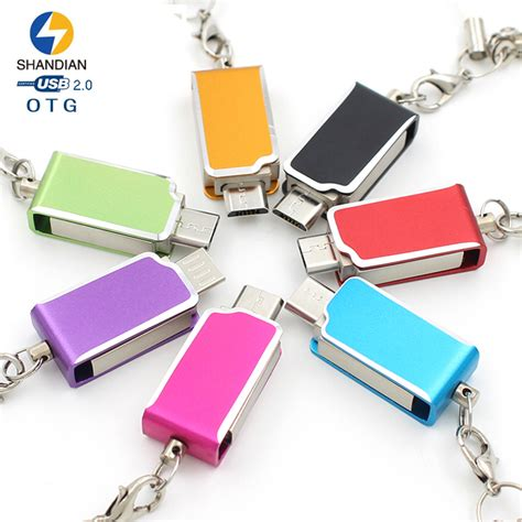android rotate shandian metal rotate colorful otg for android tablet pc