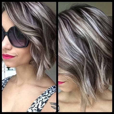 hairstyles grey highlights the most awesome images on the internet grey highlights
