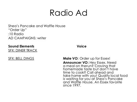 Radio Advertising Template by Radio Ad Template Images