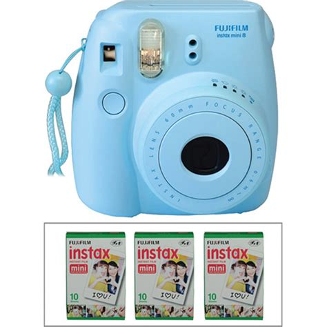 Fujifilm Instax Mini 8 Blue fujifilm instax mini 8 instant and instant color b h