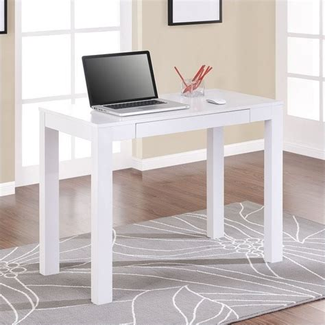 laptop desk white altra furniture parsons writing desk in white 9178096