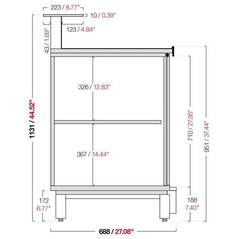 altezza banco bar banco bar neutro semilavorato da pannellare mod bbn15
