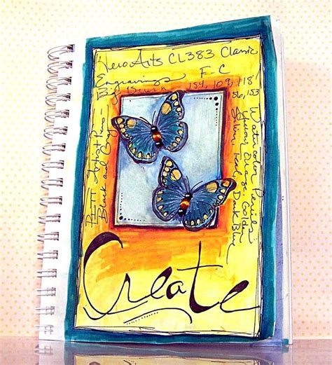 art journal layout music sketchbook cover idea journal ideas pinterest