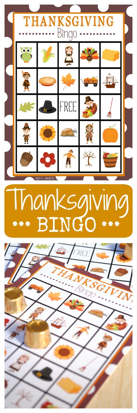 printable thanksgiving bingo cards free thanksgiving bingo crazy little projects
