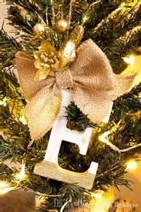 diy family rustic monogram christmas ornaments the