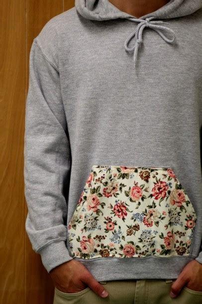 flower jumper pattern sweater hoodie flowers grey jacket floral pattern