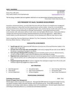 vice president resume sles vice president of sales resume exle resumes design