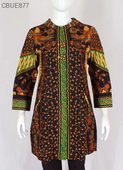 Seragam Hitam Kombinasi Batik Set Celana Kode 920 atasan wanita tunik batik blarak 9009 blus lengan tanggung murah batikunik