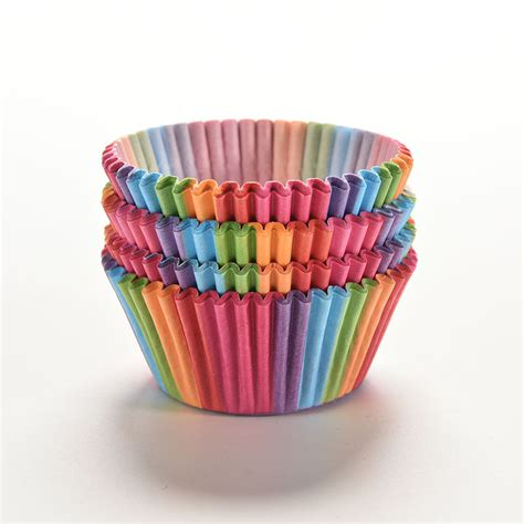 How To Make Paper Muffin Cups - rainbow color 100 pcs cupcake liner baking cup cupcake