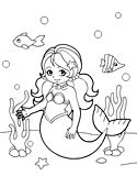 mermaids coloring pages games lunaii little mermaid under the sea coloring page