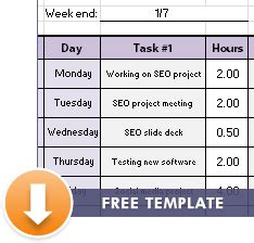 free excel time tracking template weekly timesheet