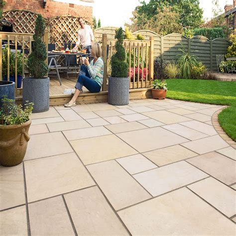 Marshalls Patio Paving by Marshalls Paving Sawn Sandstone Fairstone Kingsize Golden