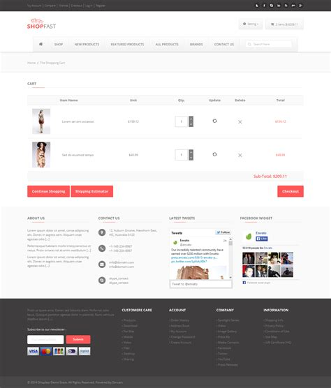 28 responsive shopping cart template free titanium