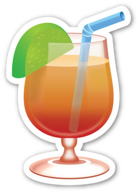 Cocktail Emoji And Drink Emoji Recipes