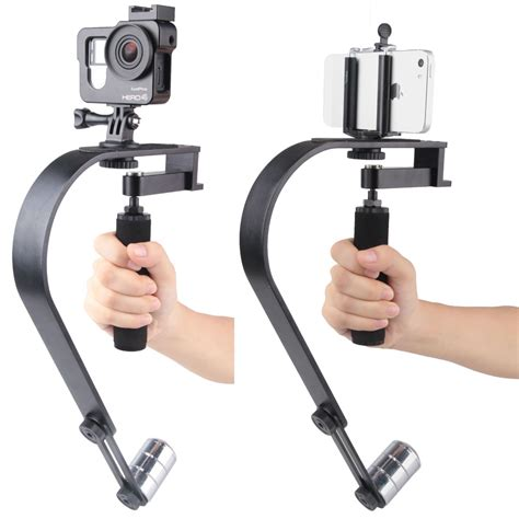 Handheld Curve Stabilizer Plastic For Gopro Xiaomi Yi Xiaomi Yi 2 vodool handheld curve stabilizer multifungsi for gopro dslr iphone black jakartanotebook