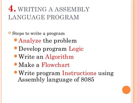 Assembly Language For X86 Processors how to write an assembly language program