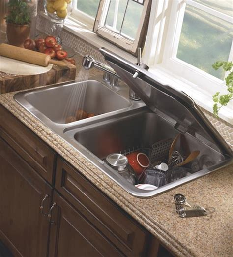 space saving kitchen ideas combo sink and dishwasher