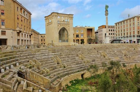 lecce italien center of lecce italy sant oronzo square and