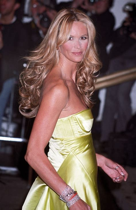 elle macpherson long middle    hairstyle