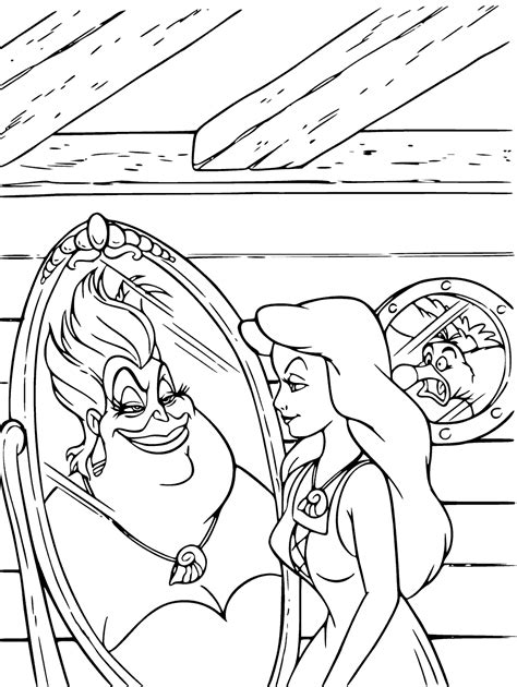 little mermaid ursula coloring pages ursula vanessa coloring pages get coloring pages
