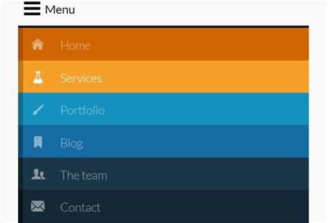 jquery layout with menu responsive retina ready menu with size dependent layouts