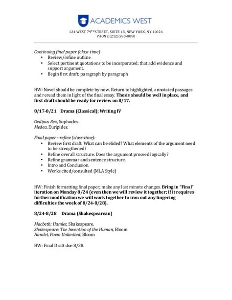 Textual Analysis Essay Intro by Syllabus Textual Analysis And Essay Construction