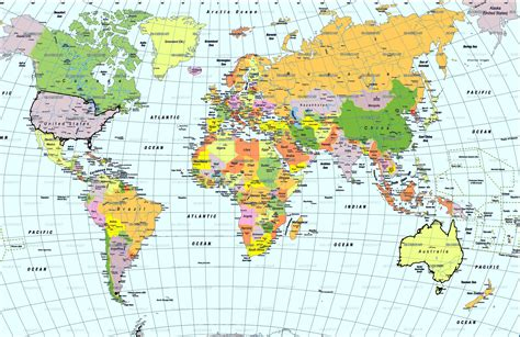 map world of and world map free large images