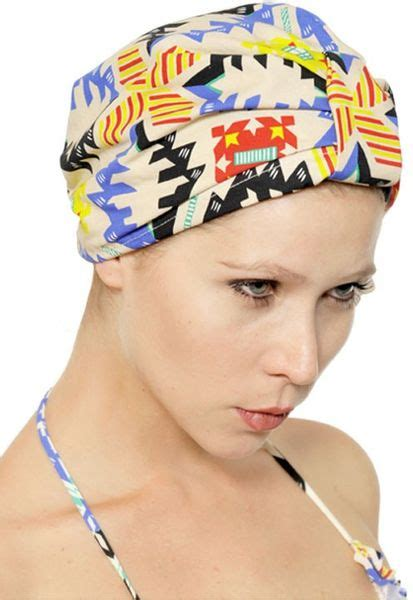 Ottoman Turban Msgm Printed Cotton Ottoman Turban In Multicolor For Multi Lyst
