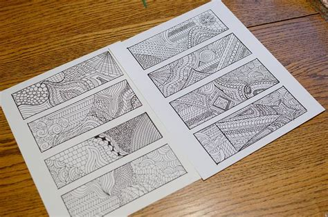 free printable zentangle bookmarks 8 best images of zentangle bookmarks free printables art