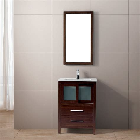 24 Inch Bathroom Vanities Vigo Alessandro 24 Inch Bathroom Vanity Contains One White Top Mount Ceramic Sink