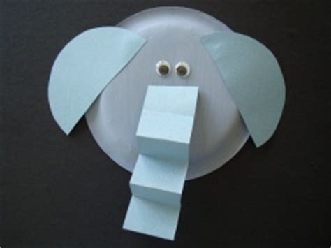 Elephant Paper Plate Craft - paper plate elephant