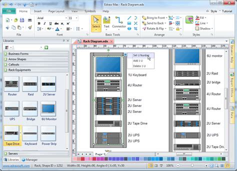 server rack diagram software rack diagram software