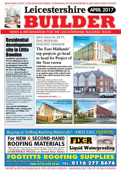 andrew granger roofing april 2017 leicestershire builder by michael