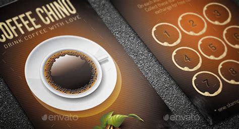 coffee rewards card template loyalty card template 12 great designs to use now