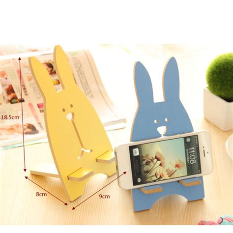 Rabbit Phone Holder rabbit phone stand wooden rabbit stand phone holder hp